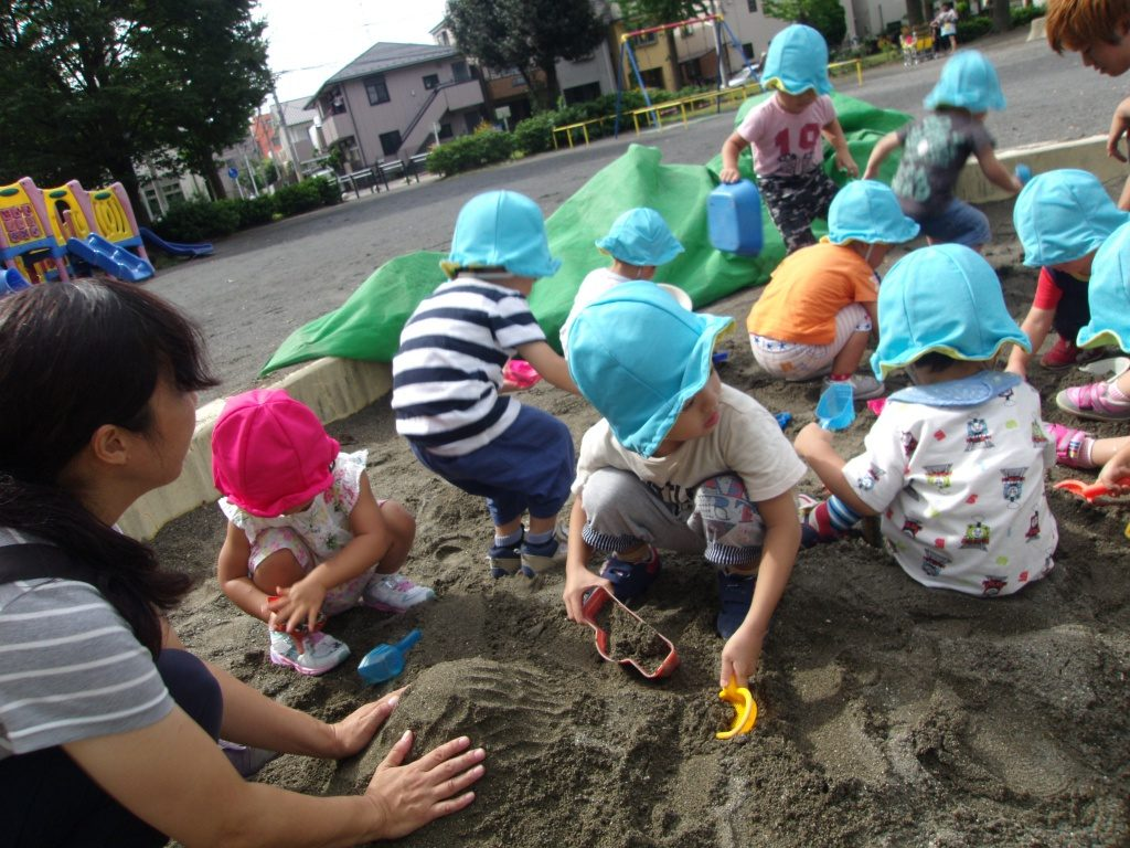 砂場遊び4